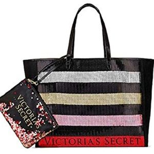 Victoria's Secret Bling Sequin Carryall Tote